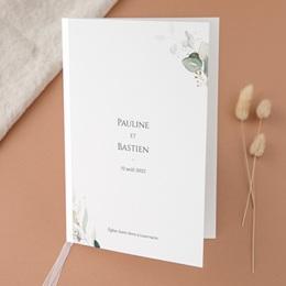Livret de messe mariage Provence Champêtre, cérémonie