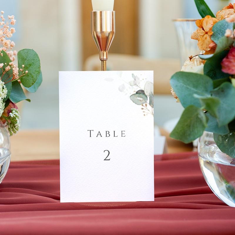 Marque table mariage Provence Champêtre, 3 repères gratuit