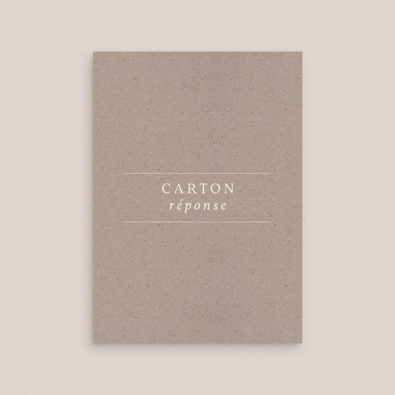 Carton réponse mariage Kraft Folk, Rsvp, 10 x 14 cm gratuit