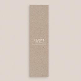 Change the date mariage Kraft Folk, Marque-Page, 5,5 x 21 cm gratuit