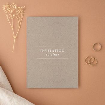 Carte d'invitation mariage Kraft Folk, Dîner & Brunch