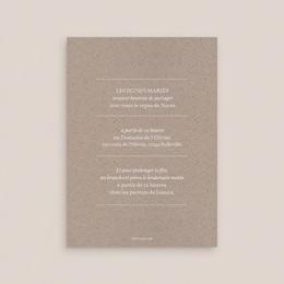 Carte d'invitation mariage Kraft Folk, Dîner & Brunch pas cher