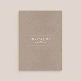 Carte d'invitation mariage Kraft Folk, Dîner & Brunch gratuit