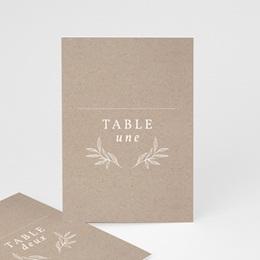 Marque table mariage Kraft Folk, Lot de 3 repères