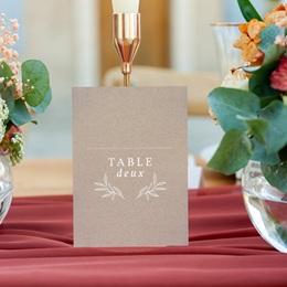 Marque table mariage Kraft Folk, Lot de 3 repères gratuit