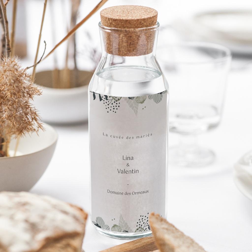 Etiquette bouteille mariage Matcha & Vin gratuit