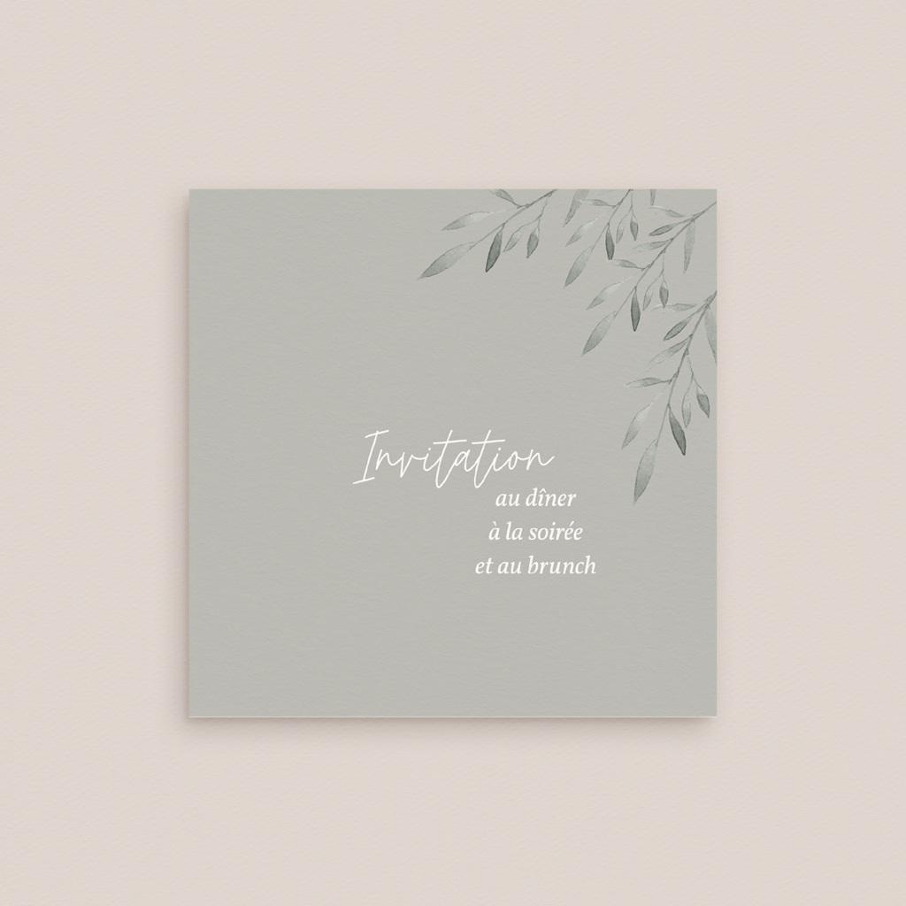 Carte d'invitation mariage Rameaux d'Olivier, Dîner, Soirée & Brunch gratuit