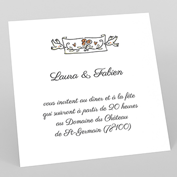 Carte d'invitation mariage Manège