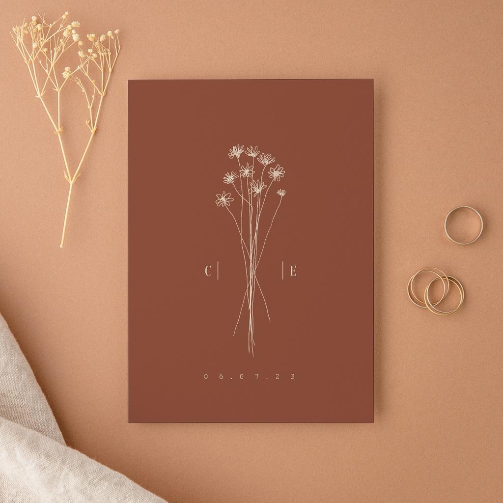 Faire-part de mariage Empreinte de Fleurs sauvages