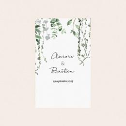 Etiquette bouteille mariage Nature Végétale, Vertical 8x13 cm pas cher