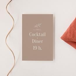 Carte d'invitation mariage Typographie & Couleur, cocktail & réception