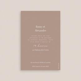 Carte d'invitation mariage Typographie & Couleur, cocktail & réception pas cher