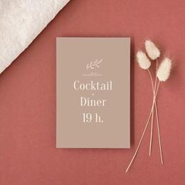 Carte d'invitation mariage Typographie & Couleur, cocktail & réception gratuit
