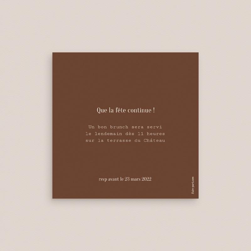Carte invitation Brunch Typographie & Couleur, 10 x 10 cm pas cher