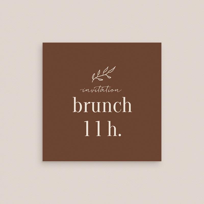 Carte invitation Brunch Typographie & Couleur, 10 x 10 cm gratuit