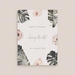 Change the date mariage Bananier Monstera & Fleurs, New Date gratuit