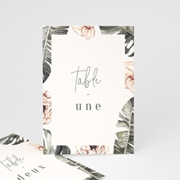 Marque table mariage Bananier Monstera & Fleurs, Lot de 3
