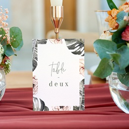 Marque table mariage Bananier Monstera & Fleurs, Lot de 3 gratuit