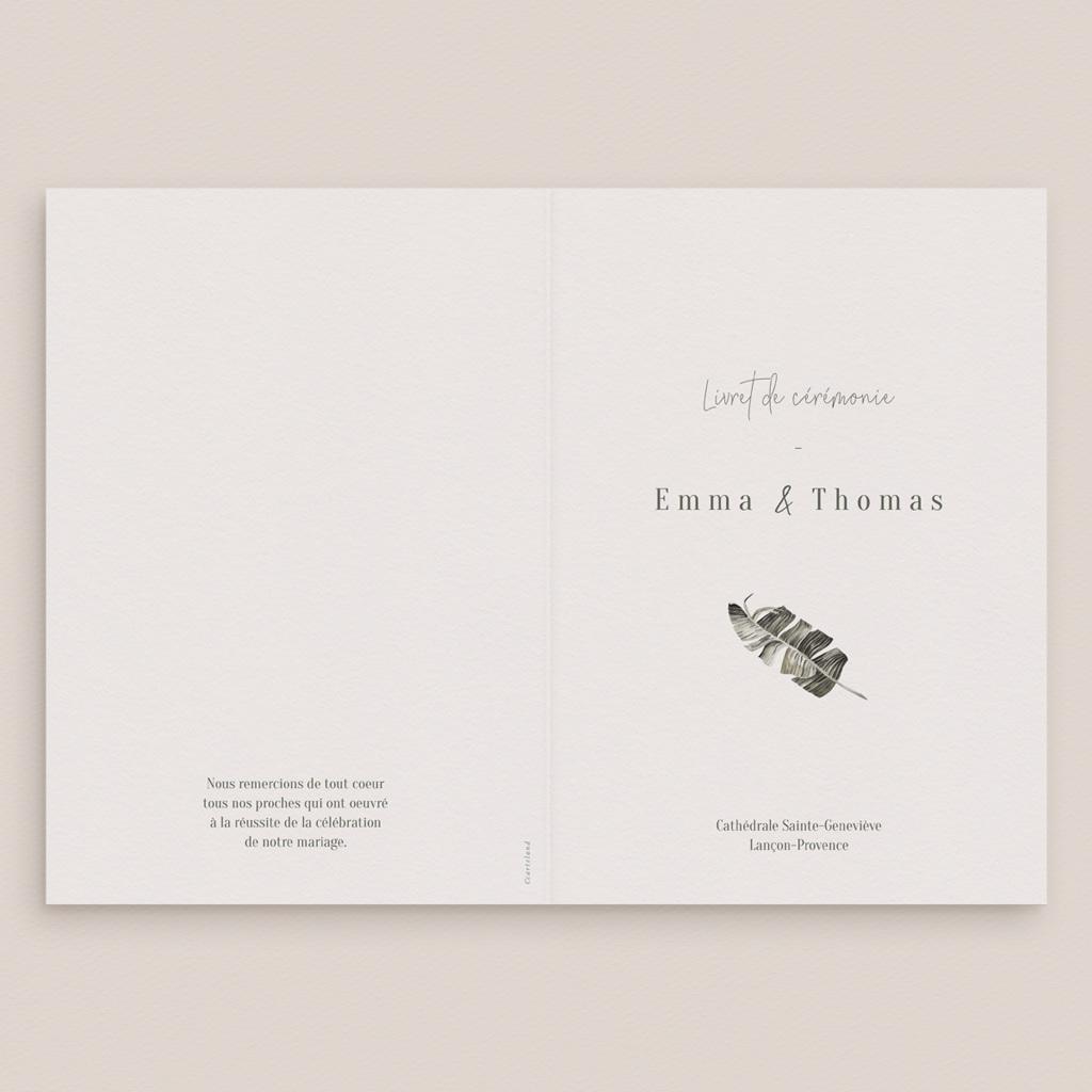 Livret de messe mariage Bananier Monstera & Fleurs, Couverture gratuit