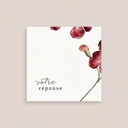 Carton réponse mariage Bouquet fleurs pourpres, 10 x 10 gratuit