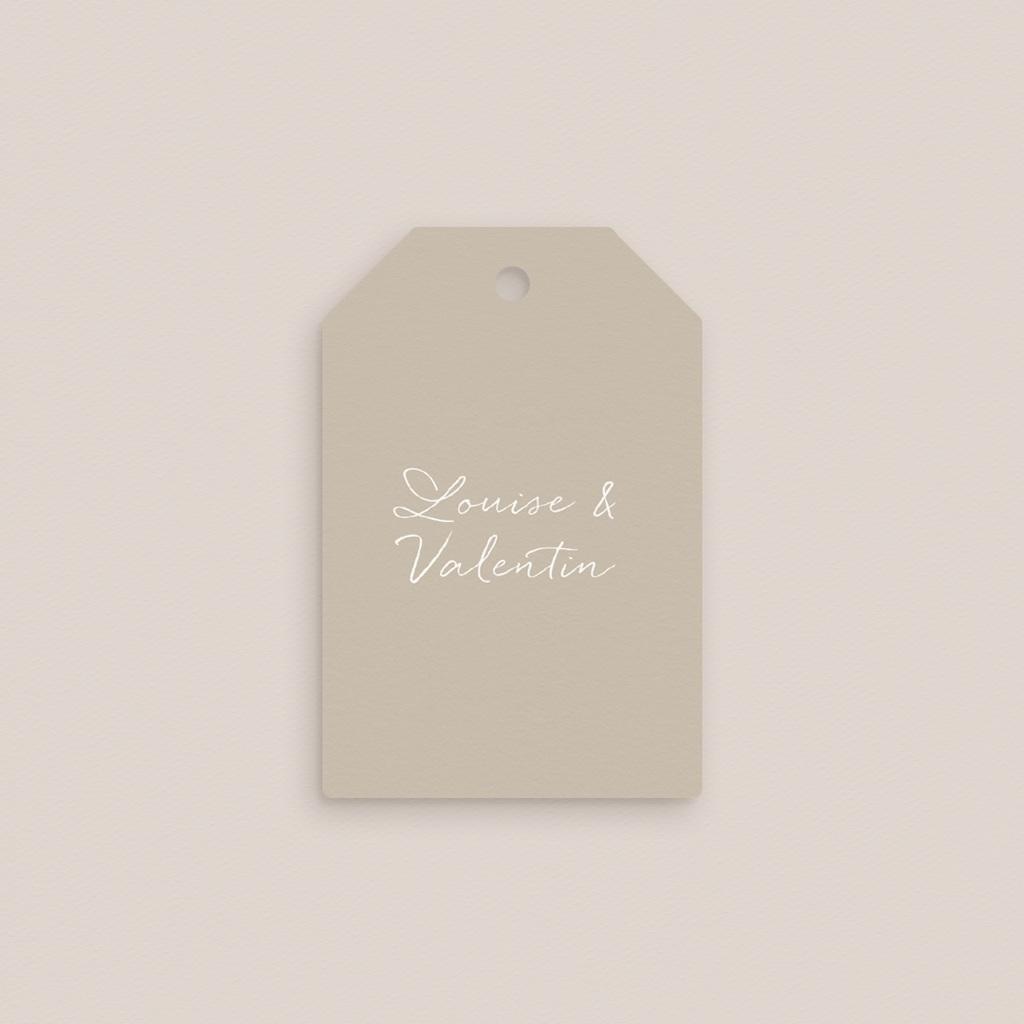 Marque-place mariage Bouquet fleurs pourpres, Invité gratuit