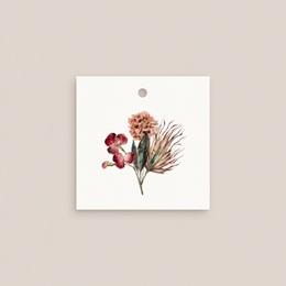 Etiquettes cadeaux mariage Bouquet fleurs pourpres, Souvenir pas cher