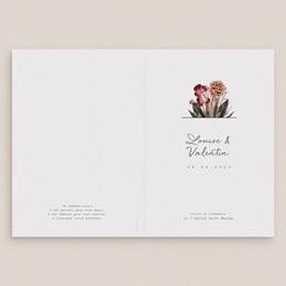 Livret de messe mariage Bouquet fleurs pourpres, Couverture Livret gratuit