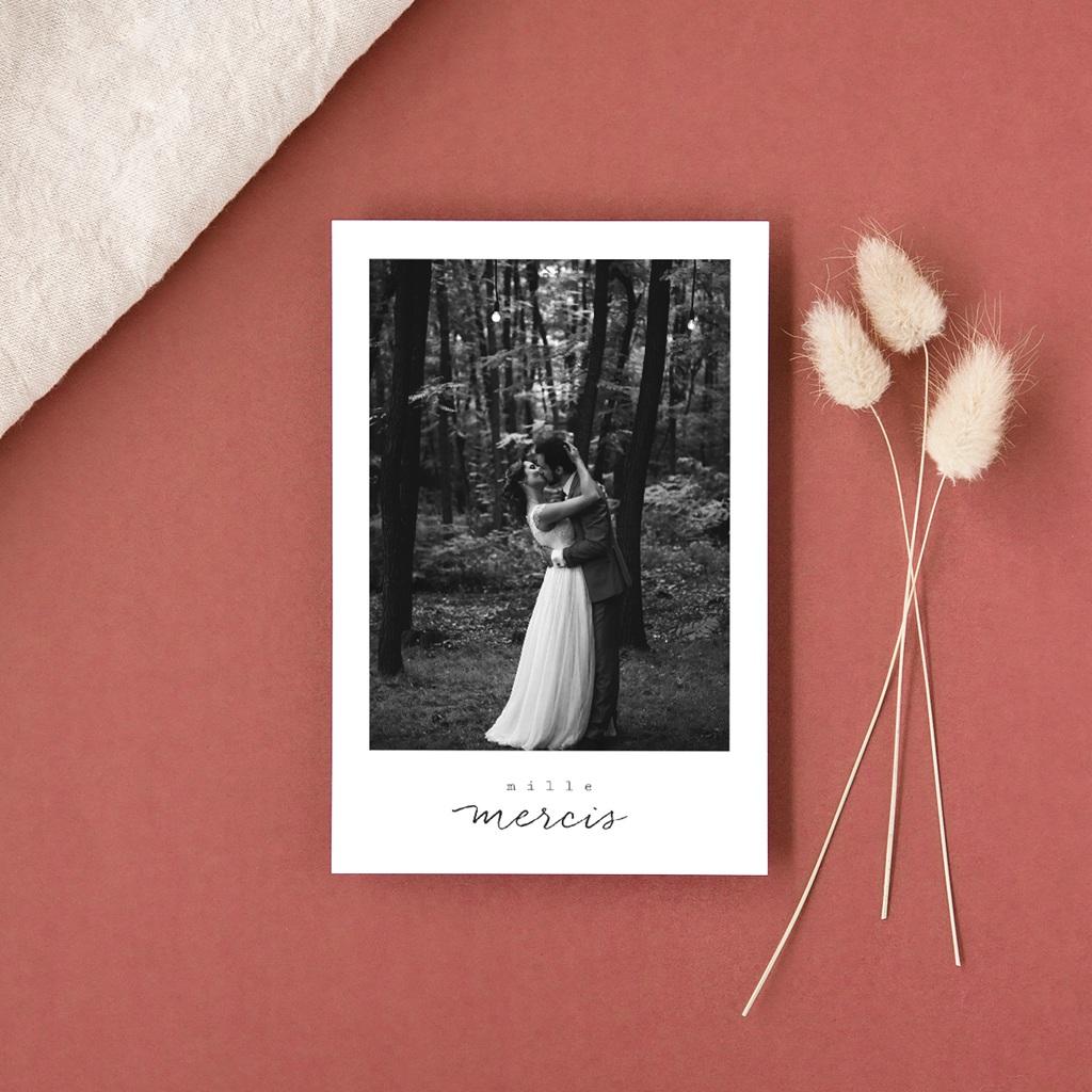 Carte de remerciement mariage Bouquet fleurs pourpres, 10 x 15 cm gratuit