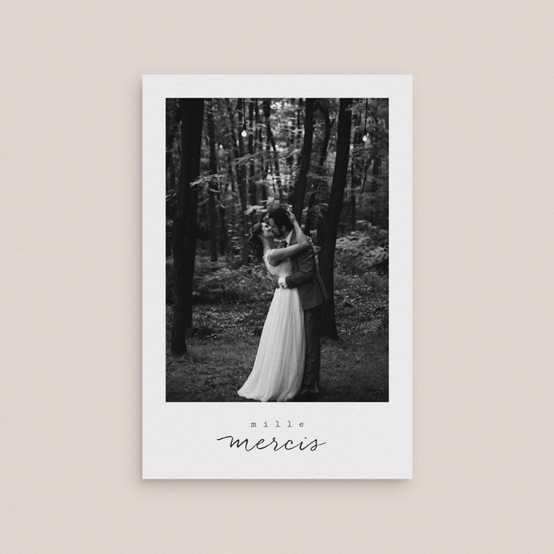 Carte de remerciement mariage Bouquet fleurs pourpres, 10 x 15 cm