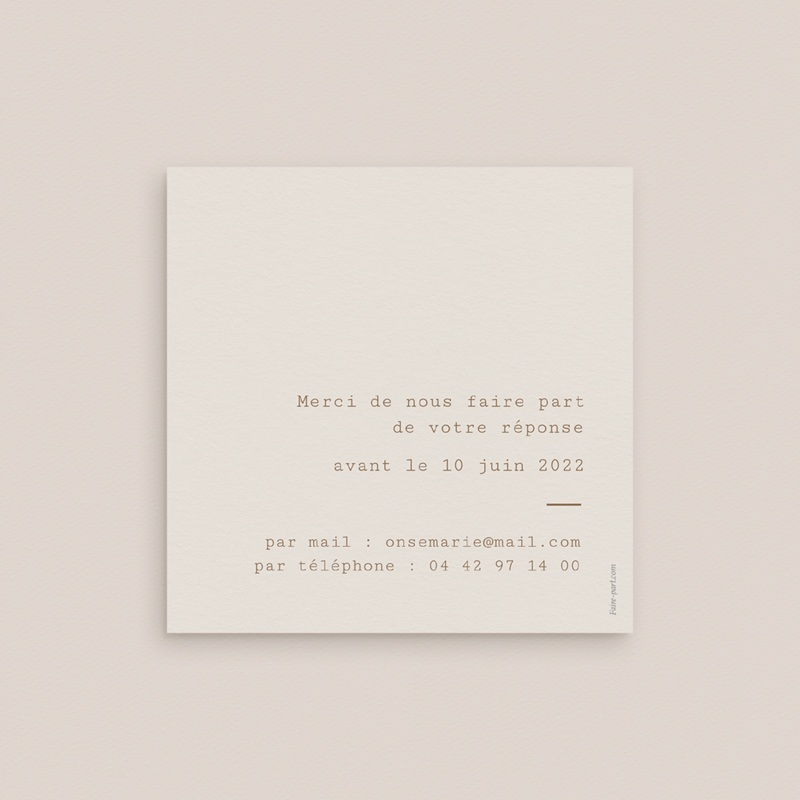 Carton réponse mariage Silhouette de Pivoines, Rsvp pas cher
