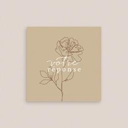 Carton réponse mariage Silhouette de Pivoines, Rsvp gratuit
