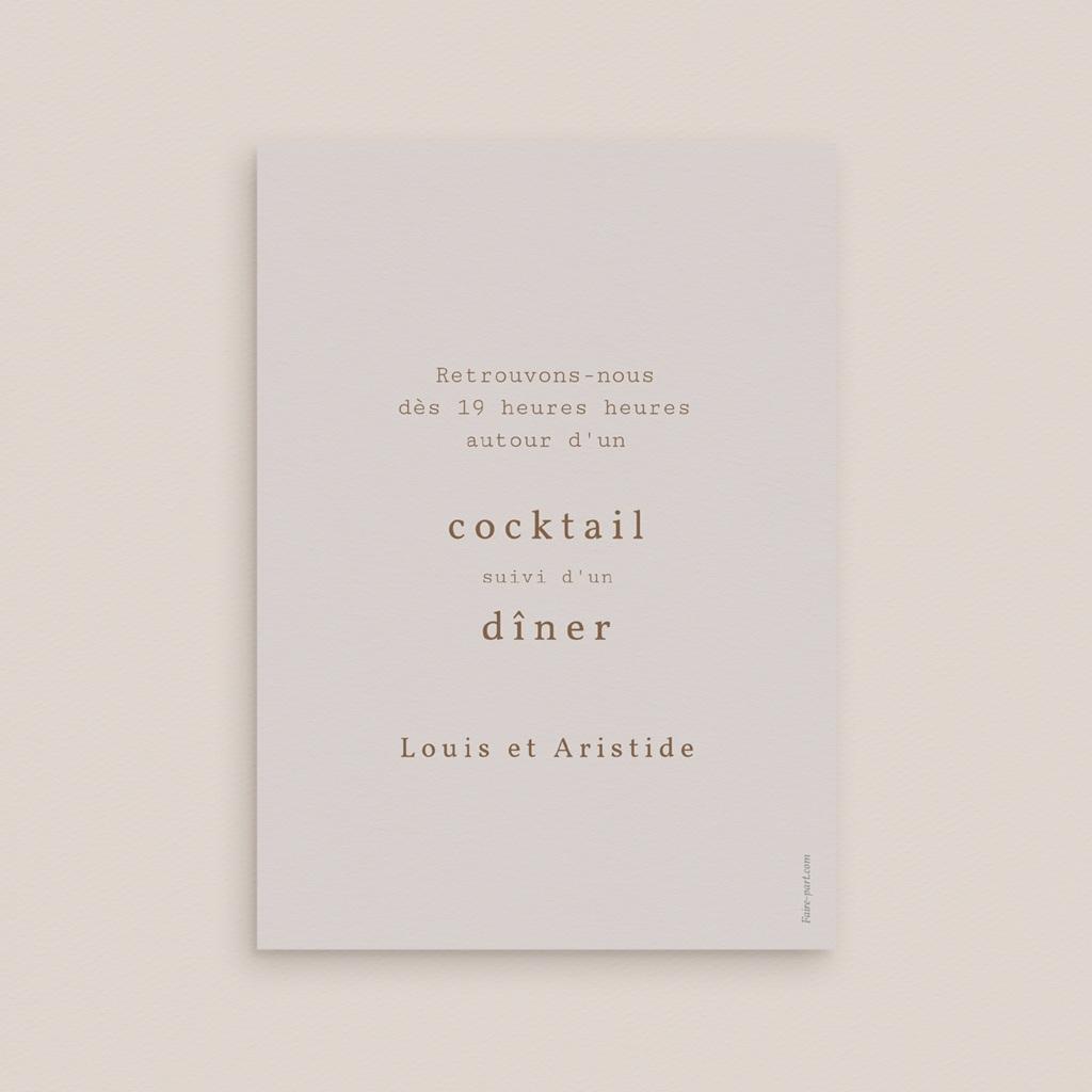 Carte d'invitation mariage Silhouette de Pivoines, Cocktail & Dîner pas cher