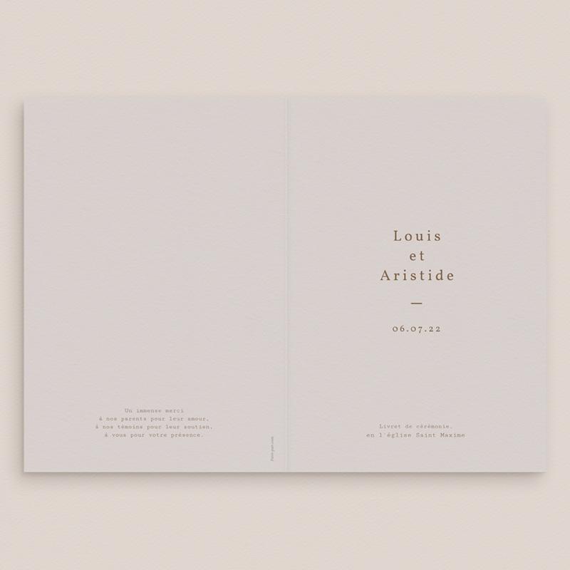 Livret de messe mariage Silhouette de Pivoines, 15 x 22 cm gratuit