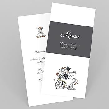 Menu mariage Vélo à deux