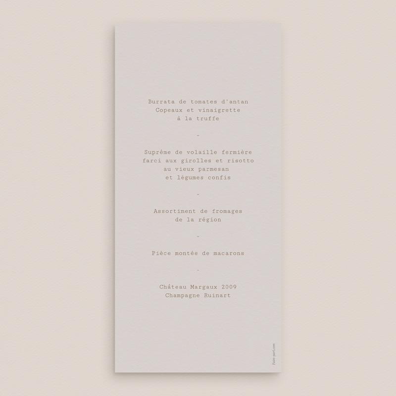Menu mariage Silhouette de Pivoines, 10 x 21 cm pas cher