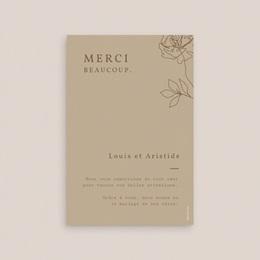 Carte de remerciement mariage Silhouette de Pivoines, 10 x 15 cm pas cher