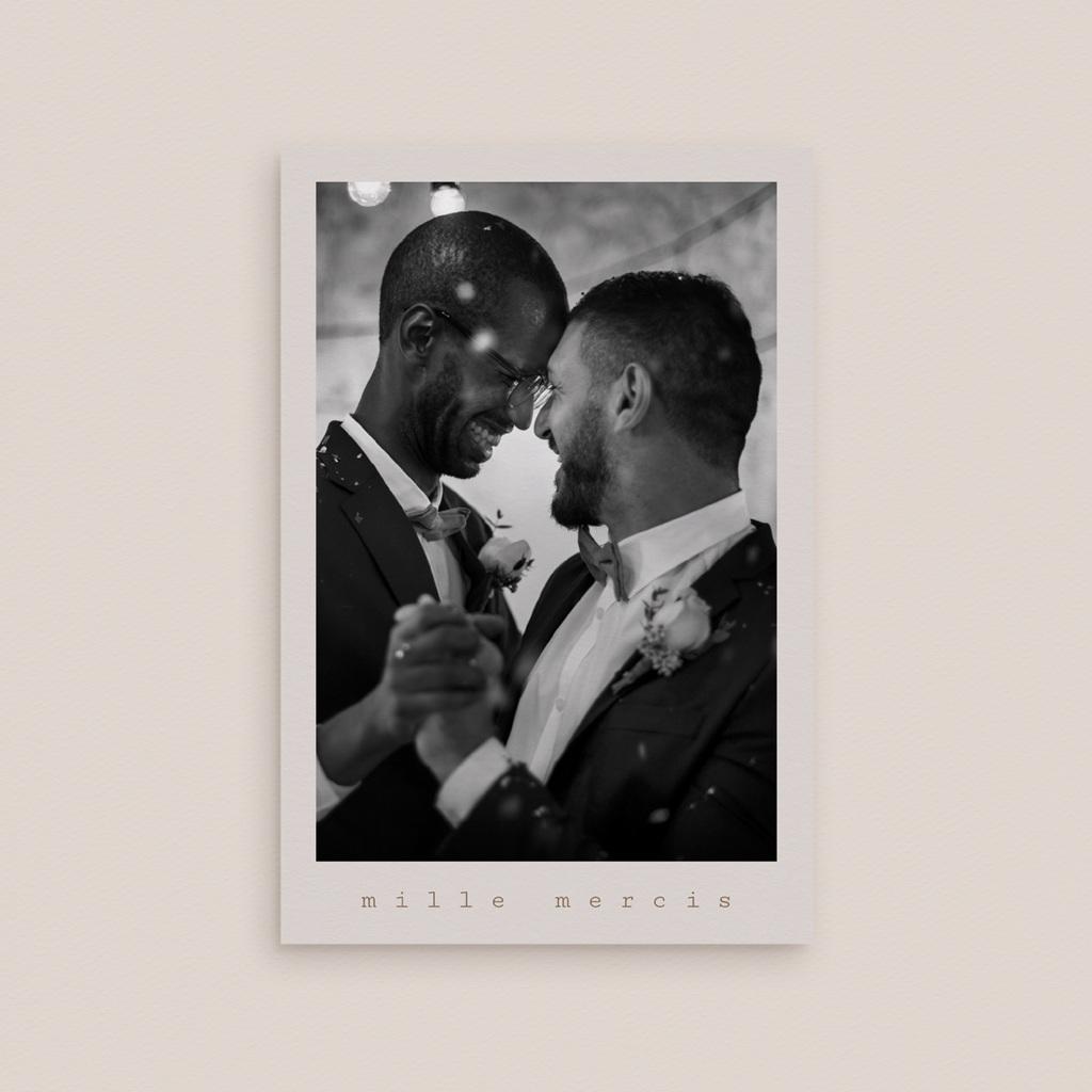 Carte de remerciement mariage Silhouette de Pivoines, 10 x 15 cm