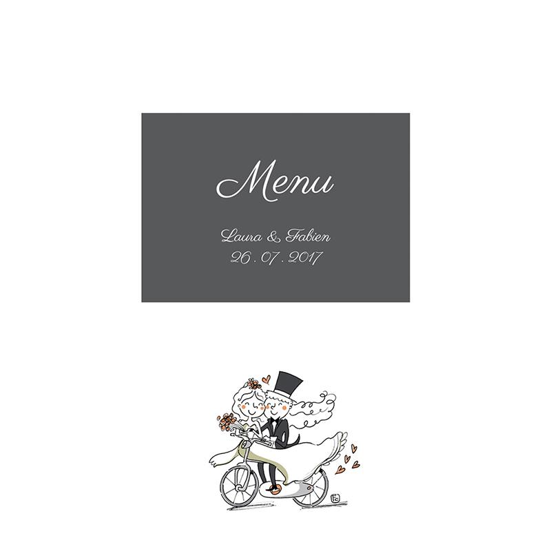 Menu mariage Vélo à deux pas cher