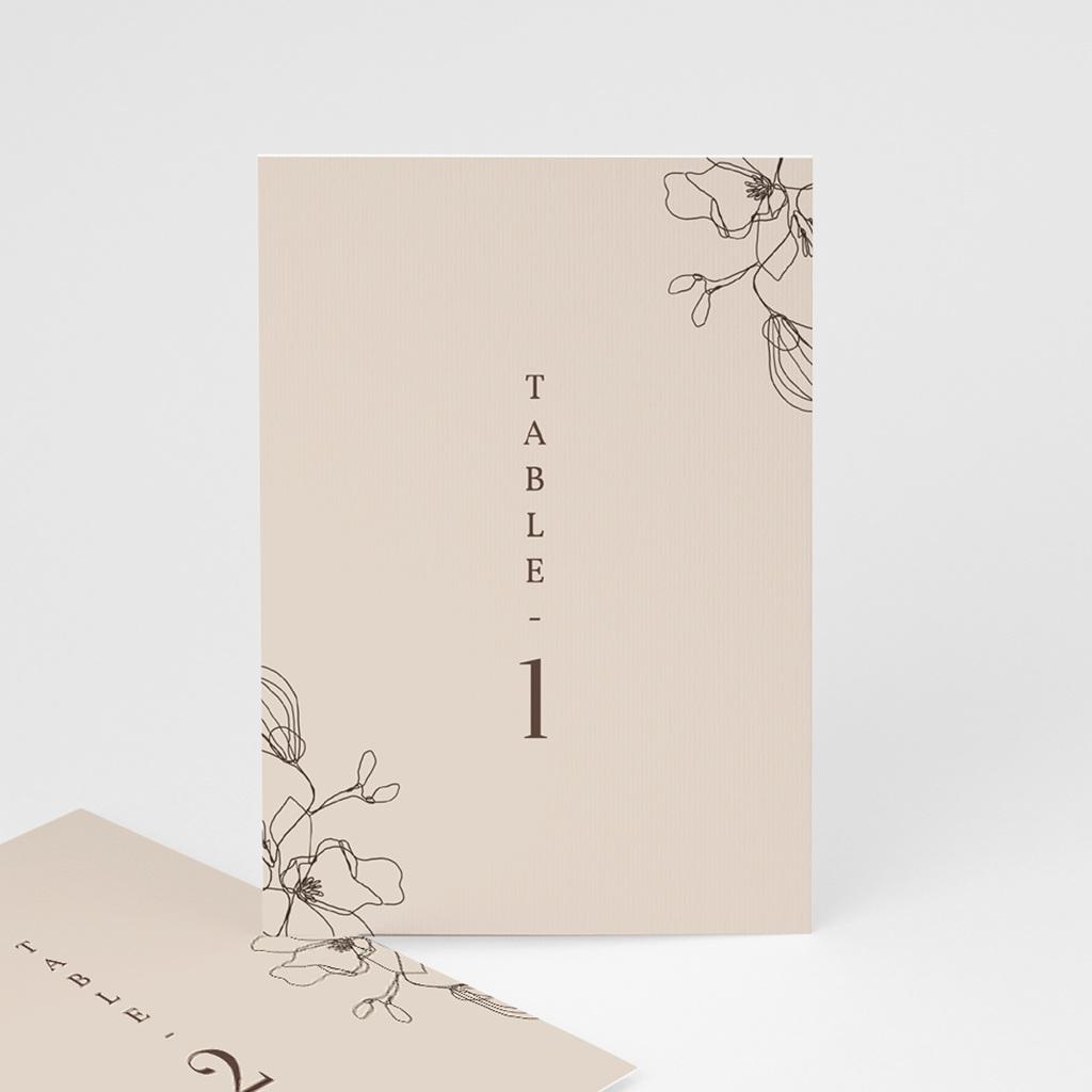 Marque table mariage Empreinte Cerisier, Trio