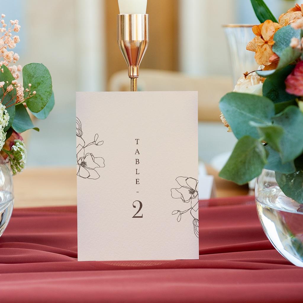 Marque table mariage Empreinte Cerisier, Trio gratuit