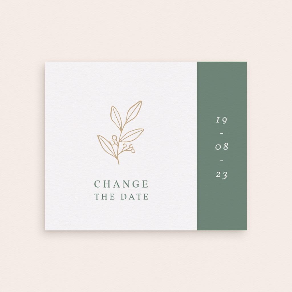 Change the date mariage Brin Romantique, New date, pli décalé gratuit