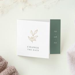 Change the date mariage Brin Romantique, New date, pli décalé