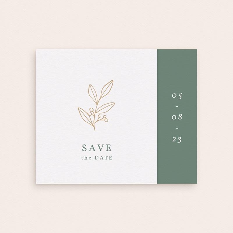 Save-the-date mariage Brin Romantique, doré, pli-décalé gratuit
