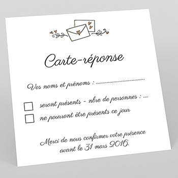 Carton réponse mariage Couronne de fleurs