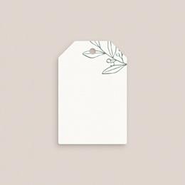Marque-place mariage Brin Romantique, vert, Invité placé gratuit