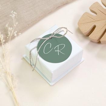 Etiquettes cadeaux mariage Brin Romantique, vert, Souvenir
