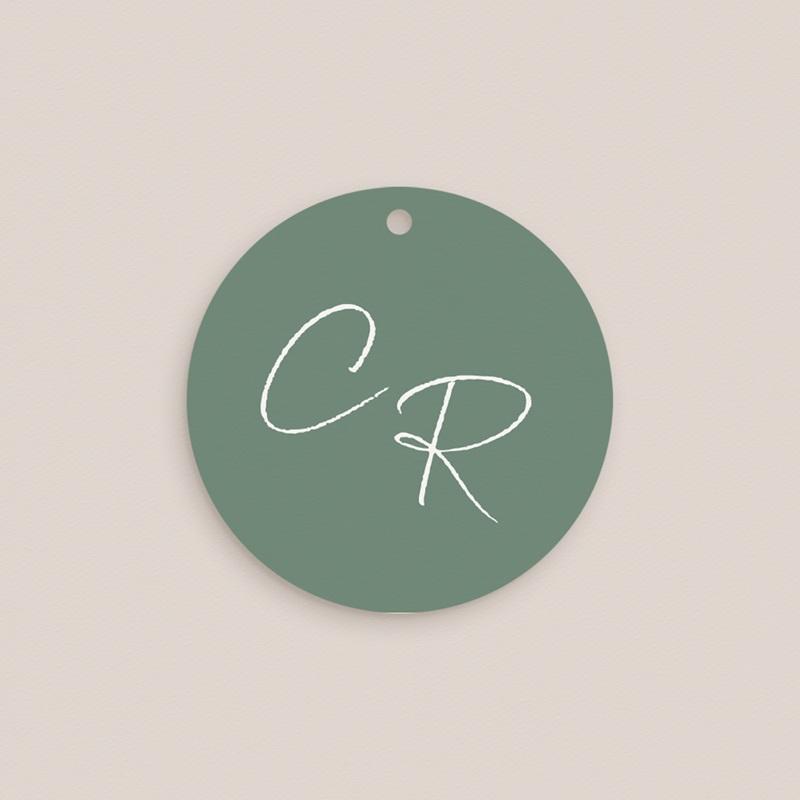 Etiquettes cadeaux mariage Brin Romantique, vert, Souvenir pas cher