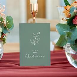 Marque table mariage Brin Romantique, vert doré, lot de 3 gratuit