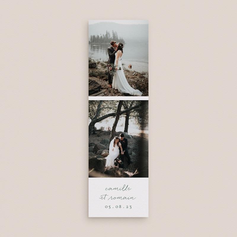 Carte de remerciement mariage Brin Romantique, vert doré, 2 Photos gratuit
