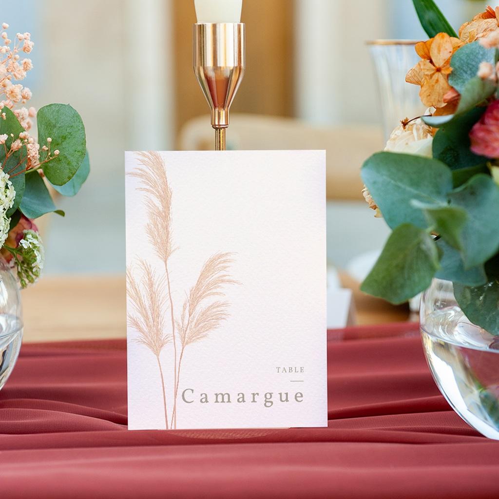 Marque table mariage Fleurs de Pampa, Lot de 3 gratuit